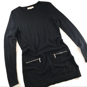Black Michael Kors Long Sleeve Sweater Dress